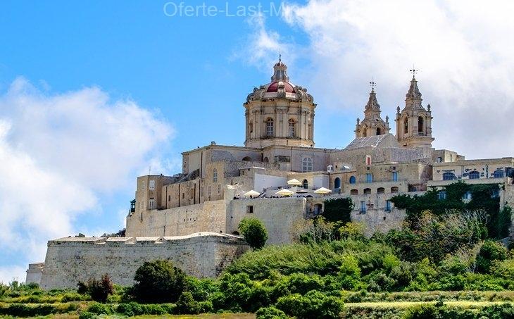 Dealul medieval al orașului Mdina, insula Maltei
