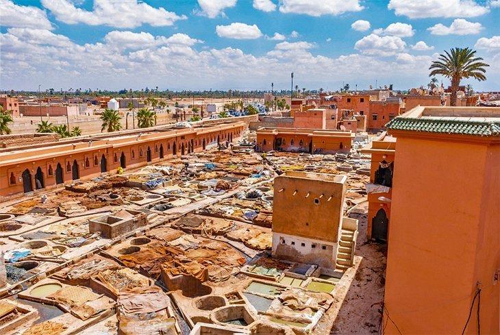 Tăbăcăriile din Marrakech