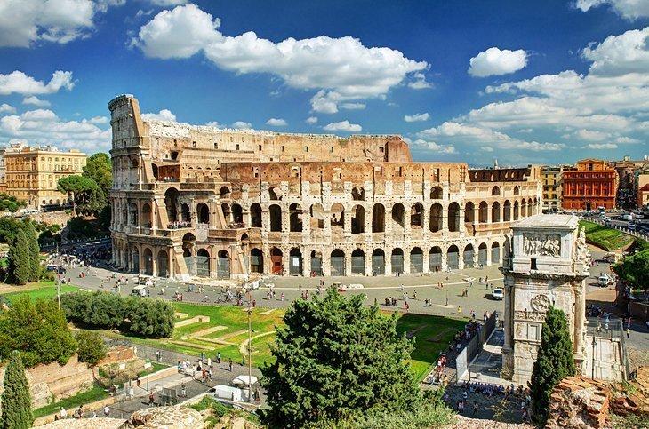 Colosseumul și Arcul lui Constantin